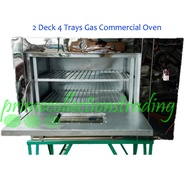 2 Deck 4 Trays Gas Commercial Oven