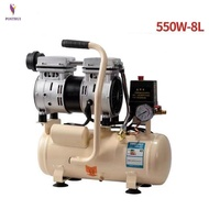 8L Silent air compressor air pump oil-free small air compressor dental woodworking paint portable air pump