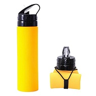 iSFun 環保摺疊 隨身矽膠吸嘴水杯瓶600ml (2色可選)
