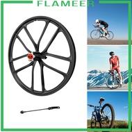 [FLAMEER] Solid 20\'\' Folding Bike Wheelset 1.5~2.125 Disc Brake Wheel 6 Hole Hub Front