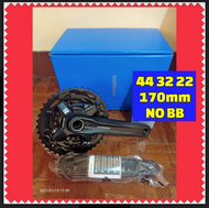 Shimano MT210 3x crankset  44-30-22 170mm WITH and without bb 52 available - mt210 2x crankset 36-22 170mm WITH and without bb 52 available - (ORIGINAL SHIMANO NOT OEM) and Deore Latest M5100 Crankset 2X 36-26 NO BB