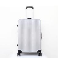 กระเป๋าเดินทาง กระเป๋าล้อลาก กระเป๋าเดินทางล้อลาก ขนาด 20/24 นิ้ว 4 ล้อ วัสดุABS+PC แข็งแรงทนทาน สีเทา alizmart