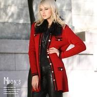 【Mon's 】優雅精品皮草針織外套組-CF2512