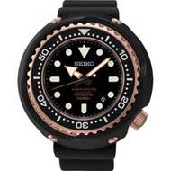 SEIKO PROSPEX 鈦 海洋大師1000米潛水腕錶-黑x玫瑰金 8L35-00H0K(SBDX014G)