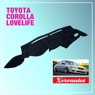 Dashboard Cover for Toyota Corolla Lovelife (accessories: rain guard visor mudguard mudflap front grill)