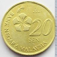 koin 20 sen Bank Negara Malaysia 2013 murah