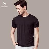 【Chamois加摩仕】機能彈力速乾吸濕排汗素面T-shirt (黑)