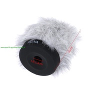 BOYA Furry Outdoor Interview Microphone Windshield Windscreen Muff for Shotgun Capacitor Microphone