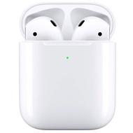 (贈無線充電盤) Apple AirPods 第二代 搭配無線充電盒版 (MRXJ2TA/A)
