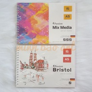 PASSION BOOK - IMPORTED PAPER FROM GERMANY 160 GSM / 200 GSM / 300 GSM (BRISTOL, MIX MEDIA)