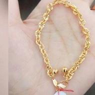 gelang emas nori 375 berat 3 gram