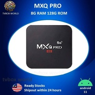 NEW MXQ_PRO 8G RAM 128G ROM Dual Band 2.4G/5G Android 11 Wifi 4K Smart TV Android Box TVbox Androidbox