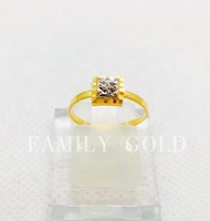 Family Gold 916 Emas Cincin Biscuit R060 / 916 Gold Biscuit Ring R060