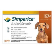 Simparica ซิมพาริคา 20mg.  สำหรับสุนัข 5-10kg.