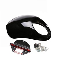 RD For  Sportster Dyna 883 Motorcycle Front Headlight Cowl Fairing Retro Mask