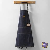 圍裙 牛仔皮做飯圍裙女家用可愛圍裙韓版時尚廚房防水防油成人背心罩衣 交換禮物