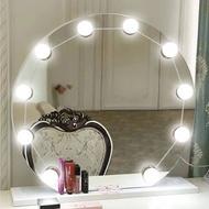 SAVFY - USB LED化妝燈鏡前燈 附10個燈泡 荷利活鏡前燈 浴室 房間 帶無限極調光器調節燈光亮度