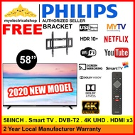 Philips 58 Inch 4K Ultra HD UHD HDR SMART TV 58PUT6604 DVB-T2 DTTV IDTV MYTV Myfreeview Dolby Atmos Supported Dolby Vision Support Jp-5e / Da-01 ( Say Goodbye and Sayornara to 58PUT6183 ) Supported Netflix Youtube 6600Series