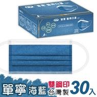 【普惠醫工】成人防疫醫療口罩--丹寧海藍 (30片1盒)