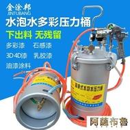 噴漆槍 10升水包水多彩噴搶乳膠漆噴槍仿石漆涂料噴涂壓力桶吸塑膠噴膠罐