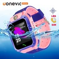 [ลดราคา]Uonevic Q12 ดูสมาร์ทสำหรับเด็กนักเรียน LBS Finder Locator ติดตาม 1.44 โทรเสียงแชท 2 กรัมซิมการ์ด IP67 PK นาฬิกาไอโม่z5