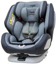 保固5年 法國 Nania x Migo 納歐聯名360度旋轉0-12歲 Isofix 汽車安全座椅 灰色【紫貝殼】