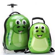 """2ชิ้น/เซ็ตร้อนเด็กกระเป๋านักเรียนรูปสัตว์กระเป๋าเดินทางการ์ตูน17 """"รถเข็นเด็กเดินทางกรณีกล่องเดินทางเด็กกระเป๋าเครื่องเขียน"""