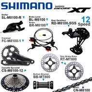 Shimano DEORE XT M8100 1x12v Groupset include Right Shifter Rear Derailleur Cassette Sprocket Crank