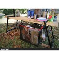 露營 桌邊架 置物架 置物網袋 野餐 折疊桌 蛋捲桌 野餐桌置物架 垃圾袋架掛架+收納網 垃圾架 露營