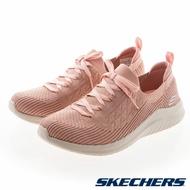 SKECHERS ULTRA FLEX 2.0 女鞋 健走 寬楦 緩震 襪套 包覆 粉【運動世界】13356WROS