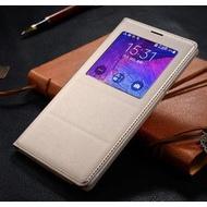 三星Sumsung Galaxy Note4 開窗側翻皮套 防塵防潑水手機保護套