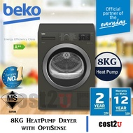 [Free Shipping] Beko 8KG Heat Pump Tumble Dryer with EcoGentle | DS8433RX1M (Clothes Dryer,Dryer Machine,烘干机)