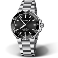 ORIS 豪利時 Aquis時間之海300米潛水錶 0173377324134-82105PEB 黑