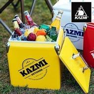 【【蘋果戶外】】KAZMI K6T3A013R 酷樂彩色小冰箱13L 黃色 保冰桶 冰箱 行動冰箱 手提式冰桶