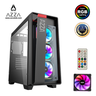 AZZA Mid Tower Tempered Glass RGB Gaming Case Obsidian 270 - Black