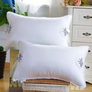 薰衣草繡花養顏花香羽絲枕單雙人助睡全棉枕頭成人學生枕芯