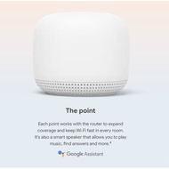 Google Nest WIFI Add-On Point (White-SG)-1 Pack Point Only