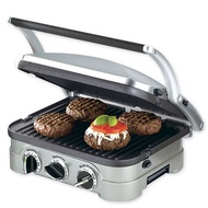 Cuisinart Griddler Countertop Grill Removable Plates Panini_Silver