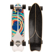 เซิร์ฟสเก็ตบอร์ด DECATHLON Cruiser Yamba 900 Surfskate Skateboard FISH 500 WHITE