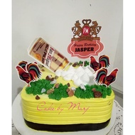 Rooster Beer Theme cake topper