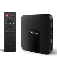 TX3 Mini TV Box Smart TV H2.65 IPTV 4K Set Top Box Android 8.1  IPTV Media Player Amlogic S905W 2G 16G Tanix Box
