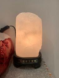 稀有官印型白玉鹽燈2.9公斤