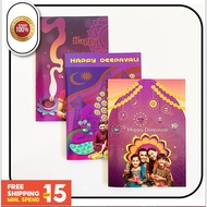 Deepavali Greeting Card with Customizable High Quality Printing - 6 Pcs / Pack