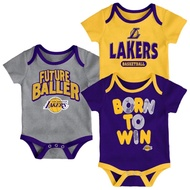 美國 NBA 洛杉磯 湖人 Los Angeles Lakers  新生兒 寶寶 連身衣 包屁衣 三件組