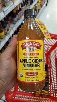 ecook อเมริกา น้ำส้มสายชูหมัก จาก แอปเปิ้ล เกษตรินทรีย์ fu bragg organic apple cider vinegar with mother 473ml