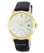 Orient Star Classic Automatic Power Reserve Men's Brown Leather Strap Watch SAF02001S0