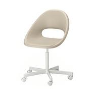 BLYSKÄR/ELDBERGET 旋轉椅, 米色/白色