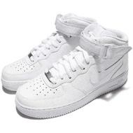 【NIKE 耐吉】休閒鞋 Air Force 1 MID 07 男鞋 高筒 氣墊 AF1 復古 魔鬼氈 皮革 男 白(315123-111)