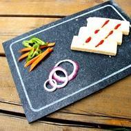 【倉石】歐式牛扒餐具家居裝飾盤長方形開槽石板盤 冰川石頭盤西餐陳列盤