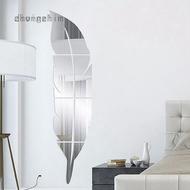 Feather Mirror Wall Sticker 3D Acrylic Mirror Sticker Fitting Mirror
